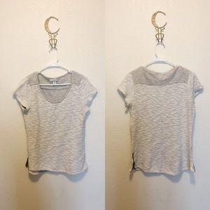 Kenar Grey Knit T-Shirt Size Medium